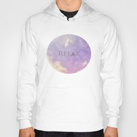 relax Hoodies featuring Relax by Rachel Burbee