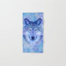 Sky blue wolf with Golden eyes Hand & Bath Towel