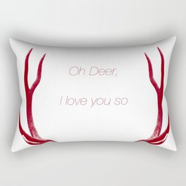 Oh Deer, I love you so Rectangular Pillow