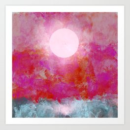 Moon Over Choppy Waters Art Print