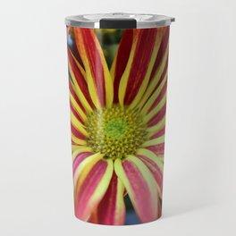 Striped Daisy Travel Mug