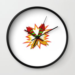 Awesome Expert Tshirt Design Fireworks expert Wall Clock