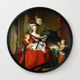 Marie-Antoinette and her Children (1787) Wall Clock