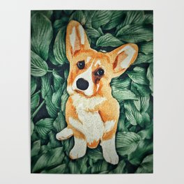 Mia the Corgi Poster