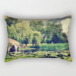 Zen Meditation Lily Pond Rectangular Pillow