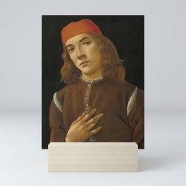Sandro Botticelli - Portrait of a Young Man Mini Art Print