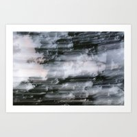 Abstract trees photography slow shutter Art Print