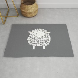 Baa baa White Sheep Rug