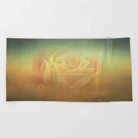 Evening Rose Shadows Beach Towel