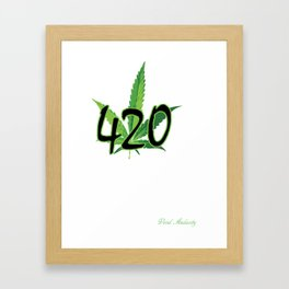 Marijuana 420 Framed Art Print