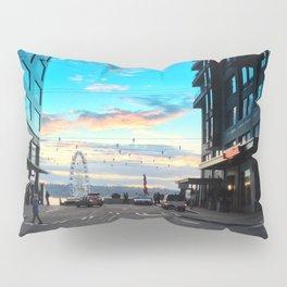 Seattle Summer Sunset Pillow Sham