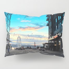 Seattle Summer Sunset Pillow Sham