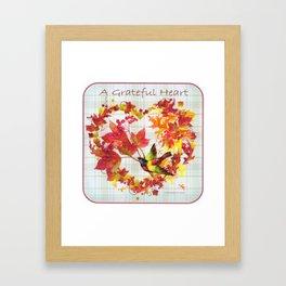 A Grateful Heart Framed Art Print
