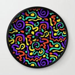 90s Swirls Wall Clock