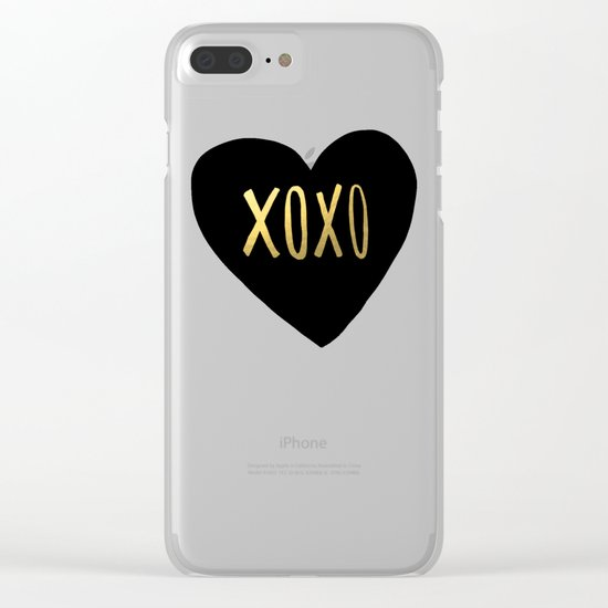 XOXO x Gold Clear iPhone Case