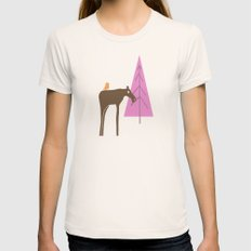 Moose Family 2 Womens Fitted Tee Natural LARGE