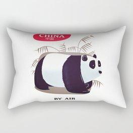 China Panda travel poster Rectangular Pillow