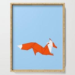Origami Fox Serving Tray