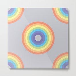 Neverending - Pastel Rainbow Metal Print