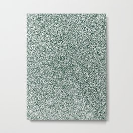 Spacey Melange - White and Deep Green Metal Print
