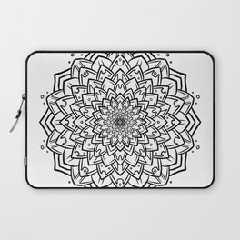 Gem Succulent Mandala B - Black Laptop Sleeve