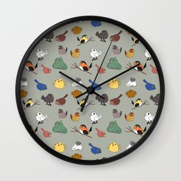 Flocks of a feather stay together (Grey) Wall Clock