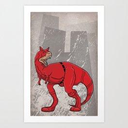 Daredevilnotauros - Superhero Dinosaurs Series Art Print