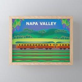 Napa Valley, California - Skyline Illustration by Loose Petals Framed Mini Art Print