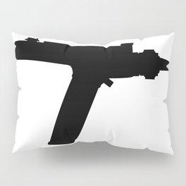 Ray Gun Silhouette Pillow Sham