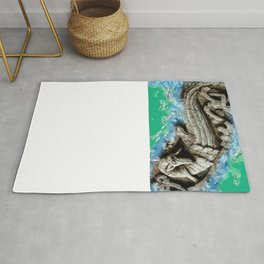 Dragon in the waters Rug