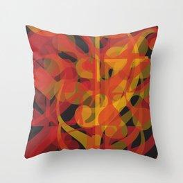 Red Yellow Black Simphony II Throw Pillow