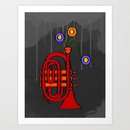 Happy to see my pocket trumpet Art Print