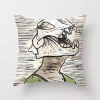 leon Throw Pillows featuring Leon by Amber Kahler