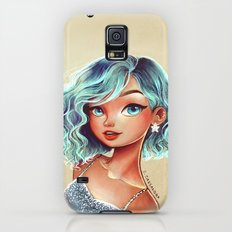 blue Galaxy S5 Slim Case