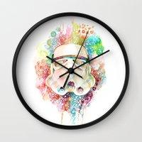 stormtrooper Wall Clocks featuring Stormtrooper by Veronika Weroni Vajdová