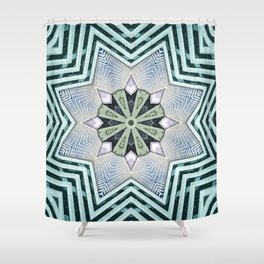 Symmetry In Turquoise Shower Curtain