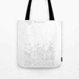 Grey Hexagons Tote Bag