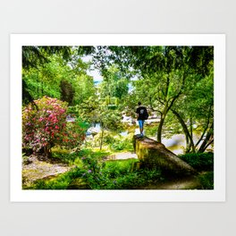 Chatsworth House Gardens. Art Print