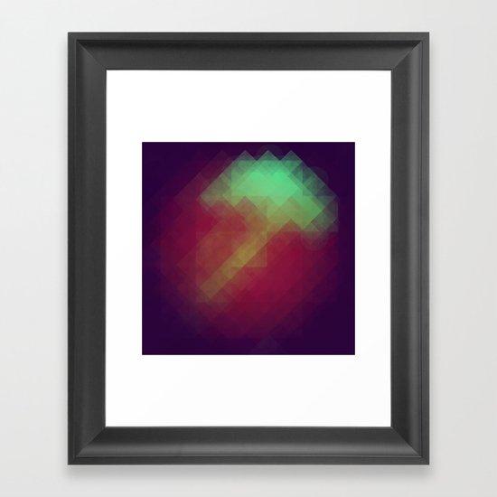 Jelly Pixel Framed Art Print