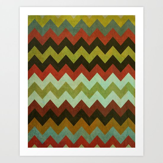 dirty chevron Art Print
