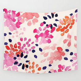 Flower abstract, watercolor floral pattern Wall Tapestry