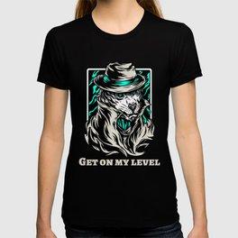 white tiger gangster t-shirt for tiger fans T-shirt