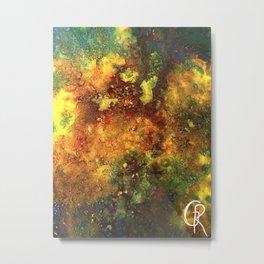 Primordial Abstract Painting Metal Print