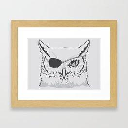 Owl Pirate Framed Art Print