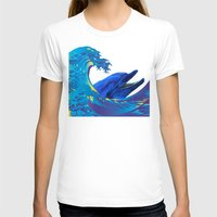 hokusai T-shirts featuring Hokusai Rainbow & Dolphin by FACTORIE