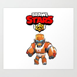 Mecha Bo design | Brawl Stars Art Print