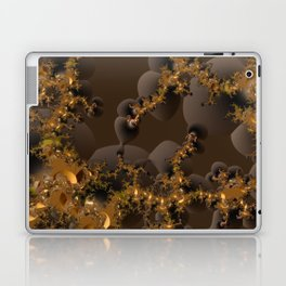 Organic Explosion of Chocolates - Fractal Golden Lava Laptop & iPad Skin