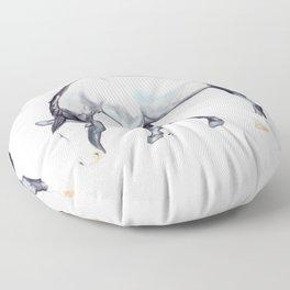 Blue Roan Floor Pillow