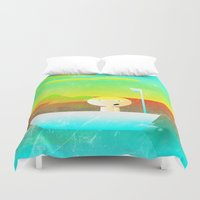 vector Duvet Covers featuring The Adventure of Neb No. 1 by BCGenest