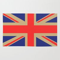 union jack Area & Throw Rugs featuring Union Jack by MeMRB